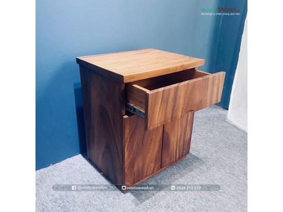 Tủ đầu giường gỗ me tây
