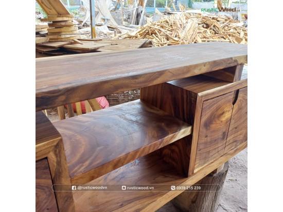 Tủ tivi gỗ me tây tự nhiên