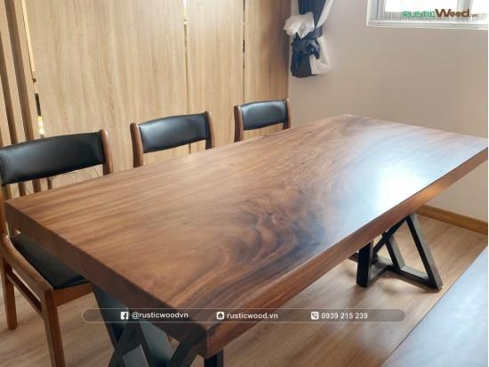 Bộ bàn ăn ghế benla kết hợp băng ghế dài 160cm
