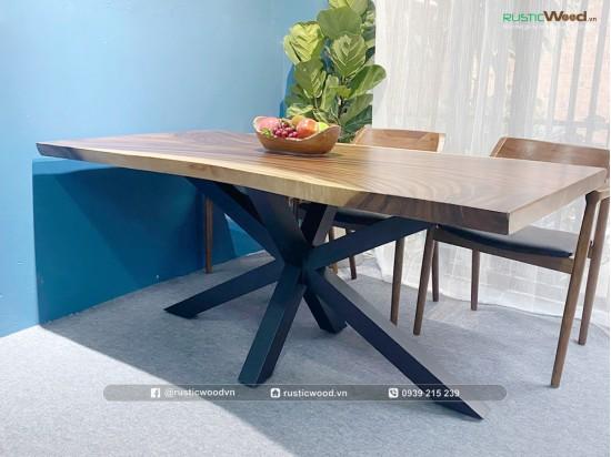 Bộ bàn ăn gỗ me tây + 6 ghế Hirosima gỗ Ash