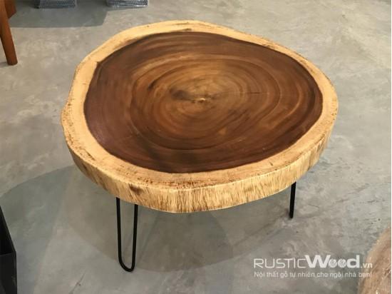 Bàn sofa gỗ me tây 60x60x5cm