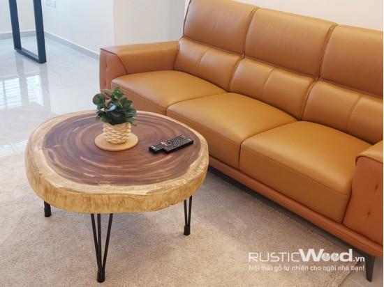 Bàn sofa gỗ me tây 70x70x5cm
