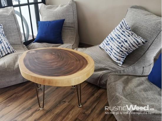 Bàn sofa gỗ me tây 70x80x5cm