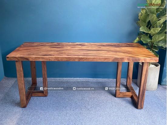 Chân bàn gỗ me tây hình chữ T