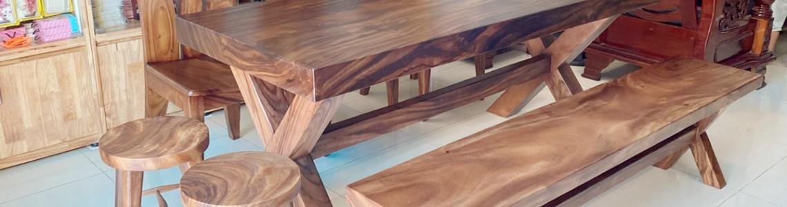Bật mí địa chỉ bán bàn ăn gỗ nguyên tấm chất lượng